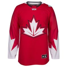 Men's Canada Hockey adidas Red World Cup of Hockey 2016 Premier Jersey