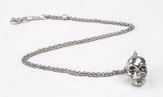 Pendente con teschio grande. Argento 925.  Big skull pendant. Sterling silver