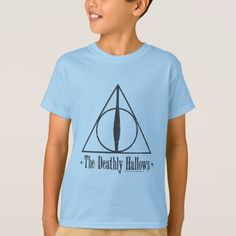 Harry Potter The Deathly Hallows Emblem T-Shirt , Harry Potter Store, Harry Potter Merchandise, Harry Potter Universal, Deathly Hallows Symbol, Harry Potter Deathly Hallows, Colorful Shirts, Fitness Models, T Shirts For Women, Casual