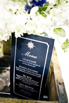 Menu Displays & Ideas Wedding Invitations Photos on WeddingWire. LOVE the color and layout of the menus!