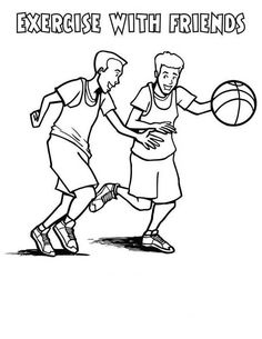 47 Exercise Coloring Pages Ideas Coloring Pages Online Coloring Coloring Pages For Kids