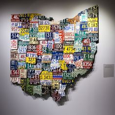 Station 88 - Ohio License Plate Sculpture by plemeljr, via Flickr