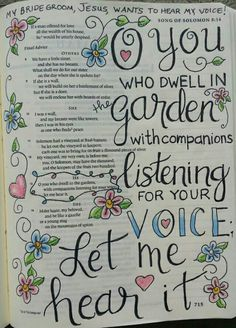 Song of Solomon Bible art journaling by @peggythibodeau www.peggyart.com