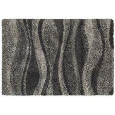 StyleHaven Hillcrest Shadow Waves Shag Rug, Grey
