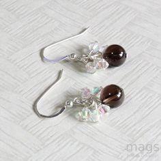 Petite Smoky Quartz Gemstones Earrings by magsbeadscreation
