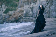 Black wedding dress by ooxo