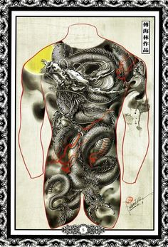 Paradise Tattoo, Gangsta's Paradise, Oriental, Japanese Tattoo Designs, Japan Tattoo, Hybrid Design, Arte Horror, Back Tattoos, Irezumi