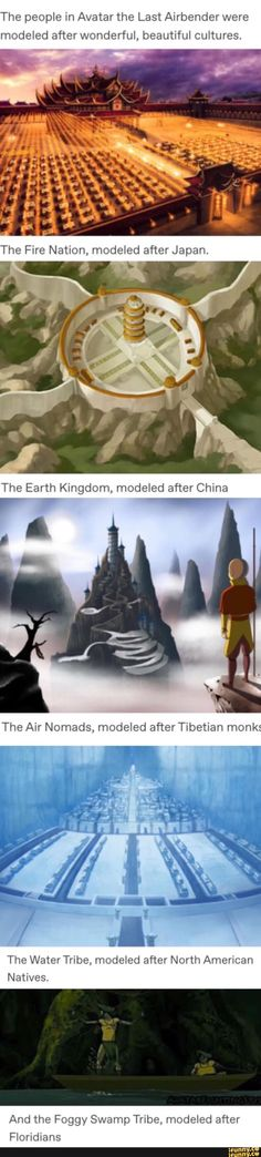 The people in Avatar the Last Airbender weremodeled after wonderful, beautiful cultures. << fire also had Chinese culture in it and A dab of Korean too Avatar Aang, Avatar Airbender, Avatar Funny, Team Avatar, Pixar, Fandoms, Louisiana, Avatar Series, Me Anime