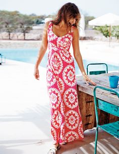 Boden Jersey Maxi Dress. Gorgeous. Also in solid black