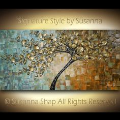 ORIGINAL Large Contemporary Textured Tree Painting Modern Palette Knife Cherry Blossom by Susanna Shap Ready to Hang Gallery Canvas 3d Painting, Knife Painting, Art Abstrait, Palette Knife, Texture Art, Learn To Paint, Pictures To Paint, Painting Inspiration, Flower Art