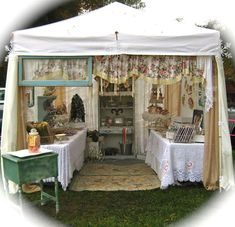 the beehive cottage.... gorgeous love the fabric it really frames the stall front beautifully