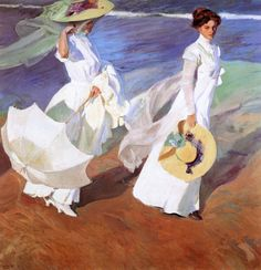 Joaquin Sorolla y Bastida Strolling along the Seashore print for sale. Shop for Joaquin Sorolla y Bastida Strolling along the Seashore painting and frame at discount price, ships in 24 hours. Spanish Painters, Spanish Artists, Figure Painting, Painting & Drawing, Inspiration Art, Fine Art, Beach Walk, Oeuvre D'art, Les Oeuvres