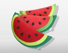 Watermelon Pillow - Decorative Pillow. $39.00, via Etsy.