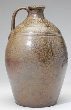 NC Pottery Chester Webster Stoneware Jug  Chester Webster (1799 -1882),