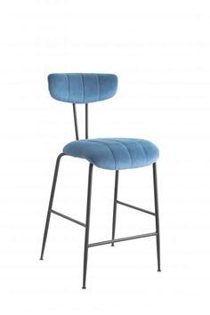 Bar Chairs, Bar Stools, Dining Set, Dining Bench, Chair Height, Furniture Direct, Crushed Velvet, Blue Velvet, Kitchen Furniture