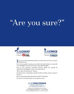 Colour full page magazine advertisement for SureSolutions from Deki Electronics Ltd.