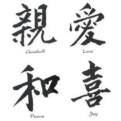 I have love, peace and also strength tattooed on my wrist in Chinese characters.