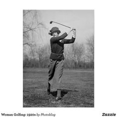 How To Improve Your Game In Golf. Do you need to learn more about the game of golf? If you do not know how to play golf, you are not the only one! Hickory Golf, Vintage Golf, Golf Fashion, Custom Posters, Custom Framing, Vintage Photos, 1920s, Improve Yourself, Woman