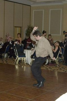 not afraid to dance at all, look at how he loves living!!!