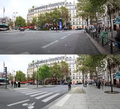 Before and after on the Rue de Rennes, Paris. Click image for link to full profile and visit the slowottawa.ca boards >> https://www.pinterest.com/slowottawa
