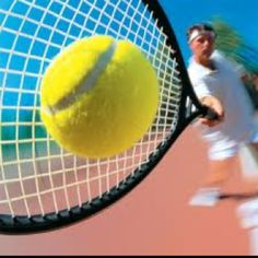 The sound of a tennis ball hitting the sweet spot.