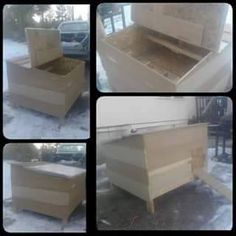Mountain Man (https://www.facebook.com/MountainManChickenCoops/photos_stream) this is a $100 coop and would fit in a minivan!  for 8-10 chickens.
