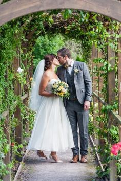 Bride and groom kiss in the garden at Fernhill House Hotel Stunning Summer, Absolutely Stunning, Beautiful, Hotel Wedding, Summer Wedding, Groom, Kiss, Gardens, Weddings