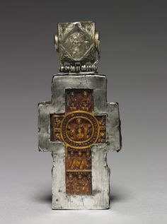 This ivory cross is carved on the front with scenes drawn from Twelve Feasts of the Orthodox Church, including the Passion and Resurrection of Christ; Medieval Jewelry, Ancient Jewelry, Wiccan Jewelry, Spiritual Jewelry, Byzantine Gold, Cross Art, Christian Symbols, Cleveland Museum Of Art, Cross Jewelry