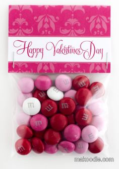 various Valentine's day treat bag toppers