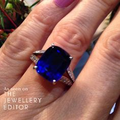 #Sapphire #engagementring inspiration from @cartier  See more at www.thejewelleryeditor.com #bridal #wedding