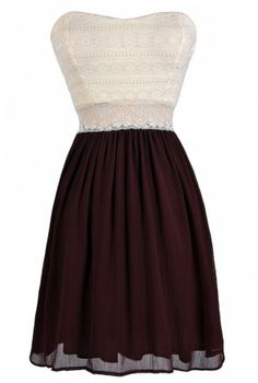 Bright Days Chiffon And Lace Dress In Dark Burgundy