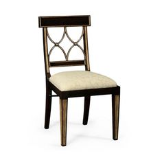 Jonathan Charles Regency Black Painted Curved Back Chair £1,022 (change material on seat) http://www.sweetpeaandwillow.com/regency-black-painted-curved-back-chair