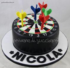torta freccette cake darts