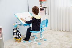 Set birou pentru copii Comfortline Bleu I Kidsroom, Back To School, Desk, Interior Design, Mini, Inspiration, Furniture, Home Decor, Drawer Unit