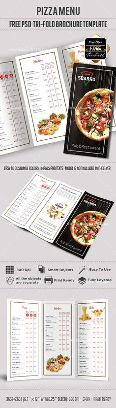 Pet Shop u2013 Free PSD Tri-Fold PSD Brochure Template Free Brochure - free food menu template