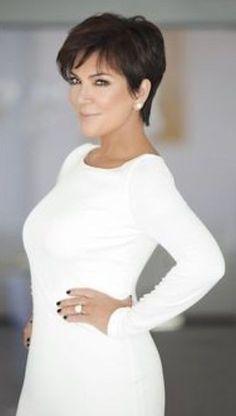 Kris Jenner Haircut Pictures Back Short Hair Cuts For Women, Short Hairstyles For Women, Short Hair Styles, Short Haircuts, Haircut Short, Mom Hairstyles, Trendy Hairstyles, Brunette Hairstyles, Kris Jenner Hairstyles