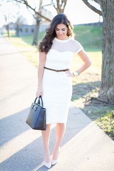 white midi dress, nude pumps, leopard belt, calf hair belt, tory burch robinson pebbled square tote, mesh dress, maggy london dress, white dress, bride to be dress, rehearsal dinner dress // grace wainwright from a southern drawl