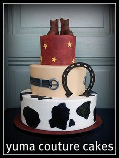 Cowboy Birthday Cake by Yuma Couture Cakes, via Flickr