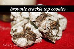 Brownie Crackle Top Cookies #Cookies #Holiday