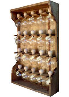 étagères à épices 20 bulles teinte bois Bulles