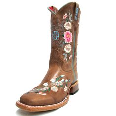 Macie Bean Youth Rose Garden Square Toe Boots MY9012 Square Toe Boots, Kids Boots, Cowboy Boots, Beans, Youth, Rose, Garden, Clothing, Fashion
