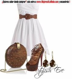 Combinaciones con blanco y marrón