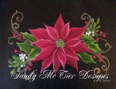 wOils poinsettia painting I taught in a class (c)2011 More