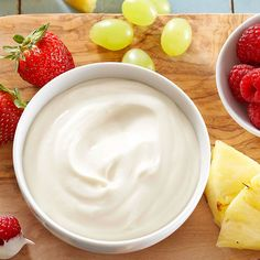 Creamy Marshmallow Dip for Fruit  This fluffy dip works great with any fresh fruit, so you can buy whatever is on sale. For a bit of visual interest, sprinkle the top of the dip lightly with cinnamon or coarse sugar.Recommended Dipper: Fresh berries, grapes, apple slices, or melon