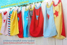 Reversible Cape Tutorial from Hideous! Dreadful! Stinky!