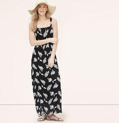 Summer Leaves Maxi Dress | Loft