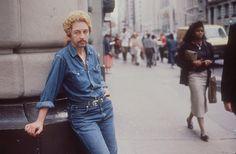 Linda Mary Montano, Posing as a young Bob Dylan, 1989