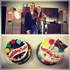 Some may call it coincidence but we call it fate! Our two newest additions to our Experience Team just happen to have the same birthday! Official welcome to Team Frontier and Happy Birthday @kakiom and @micaella_317! #frontierlabel #frontierbirthdayparty #makelabels #stpattysday #birthdaycake #biebercake
