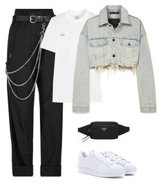"""""""Sem título #830"""" by lady99inred ❤ liked on Polyvore featuring Alyx, Prada, Vetements, Alexander Wang and adidas Originals"""