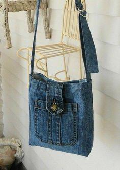 Recycled denim bag recycle design ready to go hobo bag recycle jeans denim bag shoulder bag n – Artofit Bag Jeans, Denim Tote Bags, Diy Denim Purse, Denim Bags From Jeans, Artisanats Denim, Blue Denim, Denim Overalls, Levis Jeans, Denim Bag Patterns